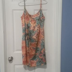 NWOT- American Rag Orange Printed Slip Dress